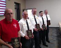 Life saving firefighters receive award