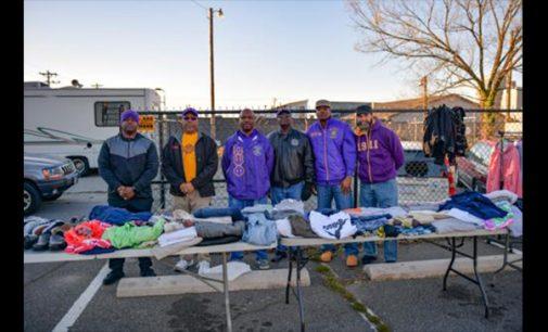 Omega men helping the homeless