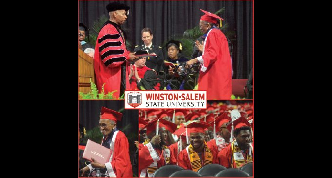 WSSU honors 1949 grad during commencement ceremony