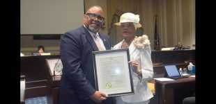 Sen. Lowe honors Mayor Pro Tempore Vivian Burke for service