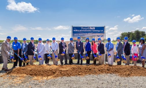 Forsyth Technical Community College holds groundbreaking ceremony for Aviation Technology Lab