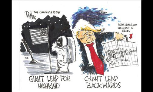 Editorial Cartoon: Giant Leap