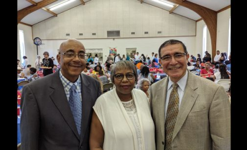 Three churches come together for spirited multicultural worship