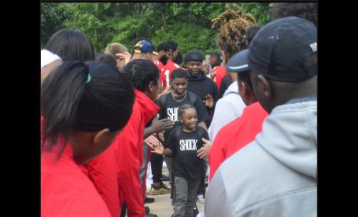 WSSU athletes, local business professionals and others welcome students at Ashley
