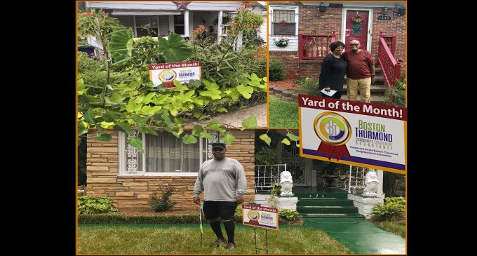 Yard of the Month project instills pride in Boston-Thurmond neighborhood