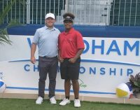 Young golfer gets his chance to play at pro tournament