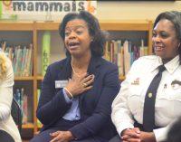 Chief Justice Cheri Beasley visits students at Mineral Springs