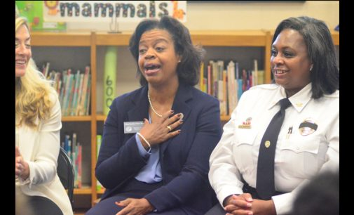 Chief Justice Cheri Beasley visits students at Mineral Springs