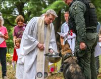 Special Blessing of the Animals held for police, sheriff K-9 units