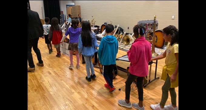 Diggs-Latham Elementary receives donation of musical instruments