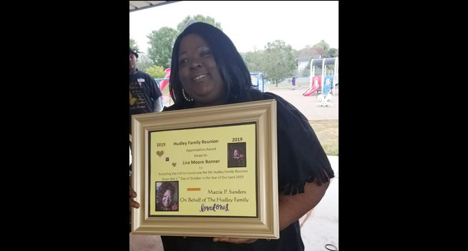 Hudley ancestors honored at family reunion