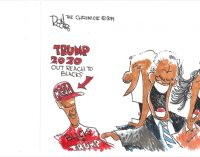 Editorial Cartoon: Trump Black Outreach