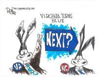 Editorial Cartoon: Turning Blue