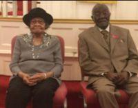 Centenarians Charlie Jasper Lentz and Mattie Geneva Douthit Glenn recognized by Goler Metropolitan