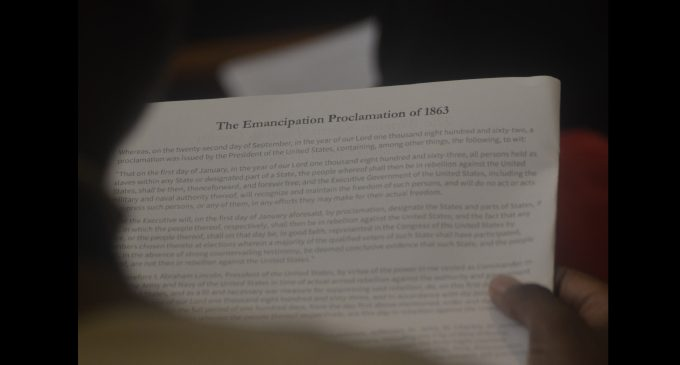 Large crowd attends annual Emancipation Service