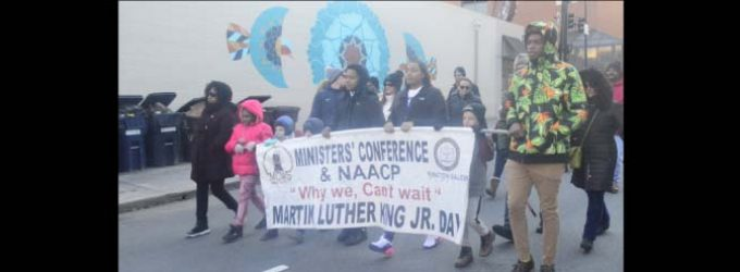 Dozens participate in march  honoring Martin Luther King Jr.